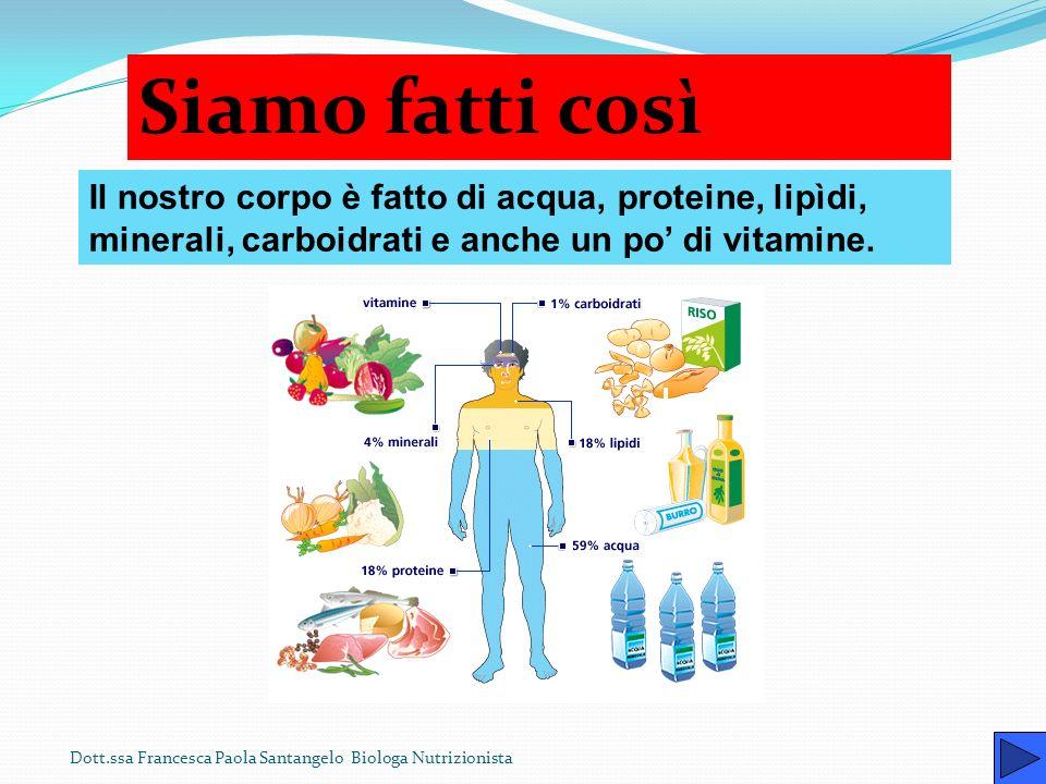 Dott.ssa Francesca Paola Santangelo Biologa Nutrizionista Un alimentazione errata è causa di seri disturbi e di vere e proprie malattie. Pertanto rite