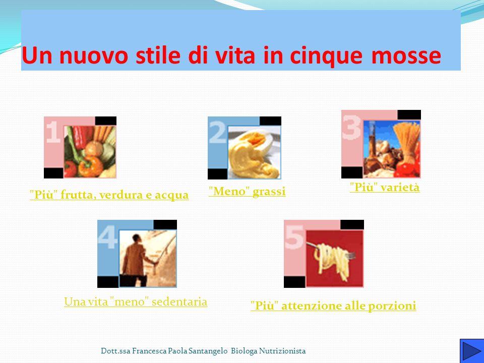 Una dieta equilibrata migliora la vita Dott.ssa Francesca Paola Santangelo Biologa Nutrizionista La corretta alimentazione è fondamentale per una buon