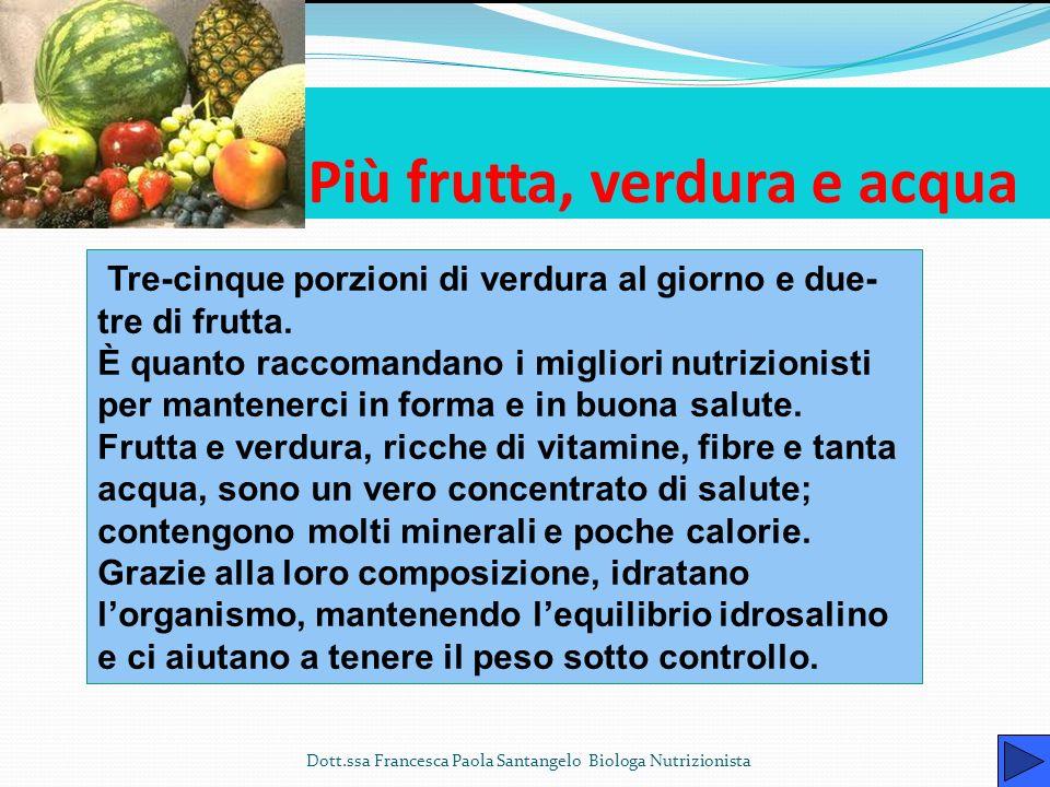 Un nuovo stile di vita in cinque mosse Dott.ssa Francesca Paola Santangelo Biologa Nutrizionista