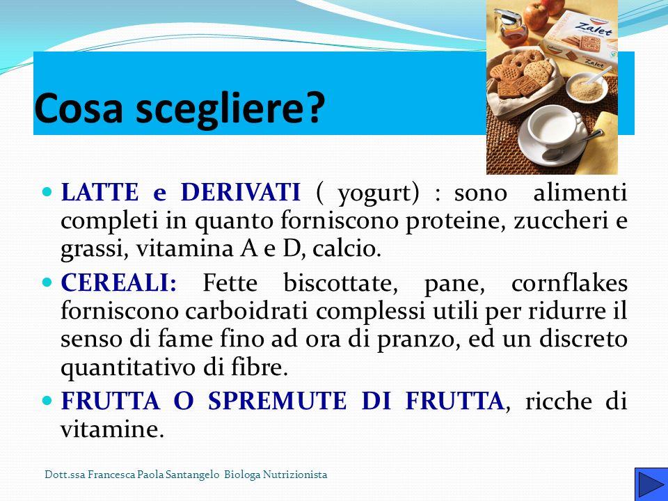 Prima colazione Fare la prima colazione è una buona abitudine: essa infatti, dopo una notte di digiuno, fornisce allorganismo la quota necessaria di e