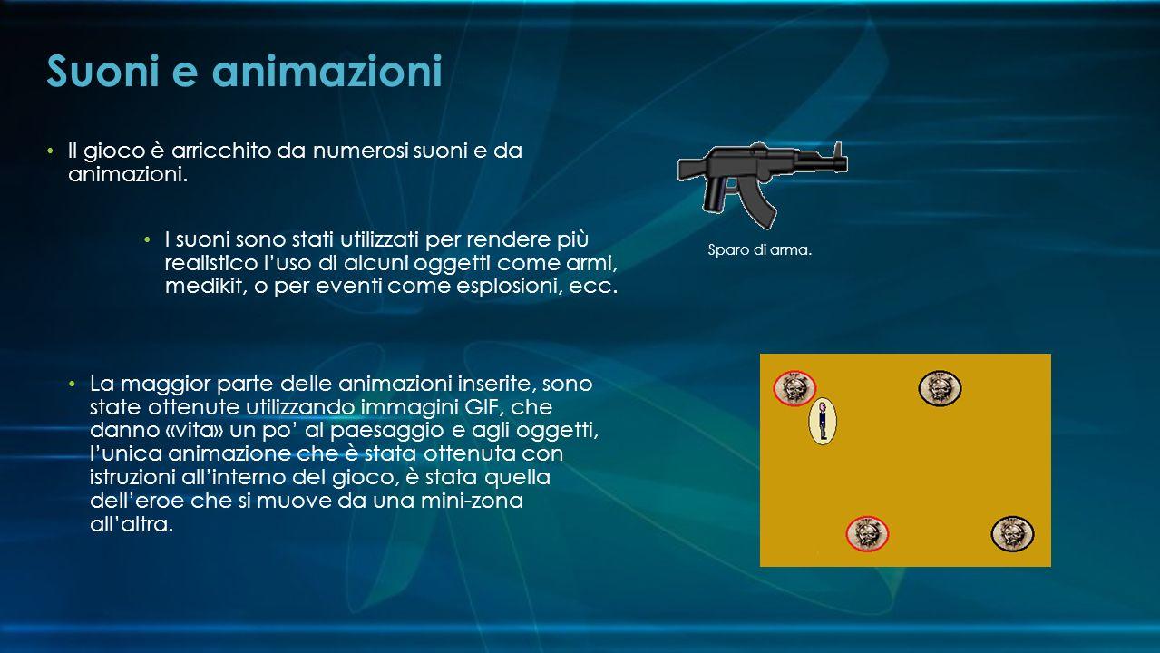 Suoni e animazioni Il gioco è arricchito da numerosi suoni e da animazioni.
