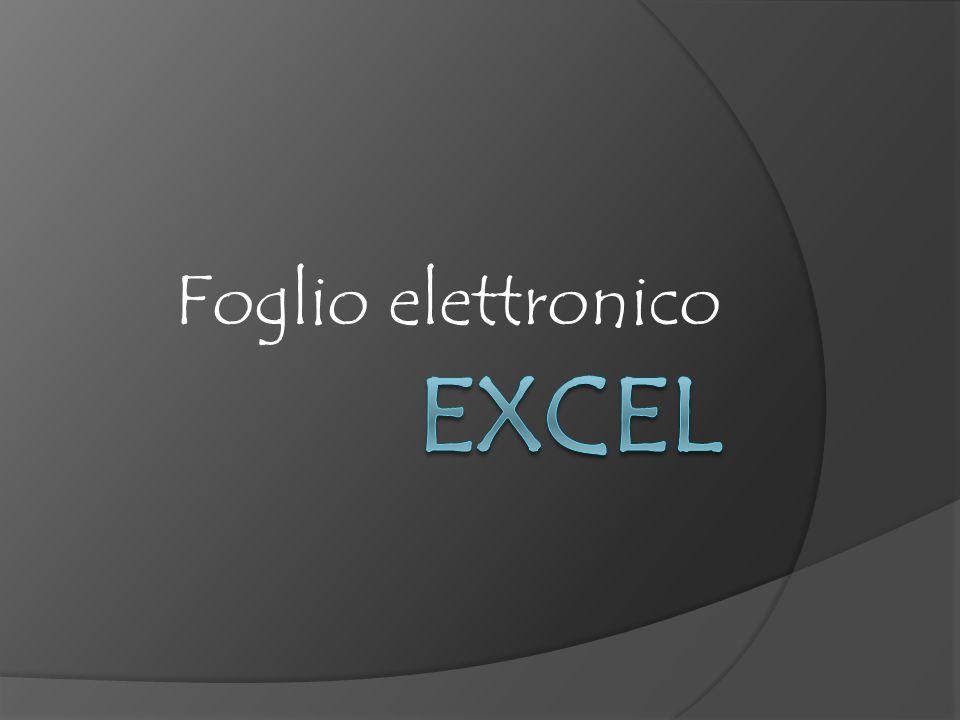 Per iniziare Microsoft Excel 2007 è un applicazione software che può essere usata come foglio elettronico, data base, o generatore di grafici.