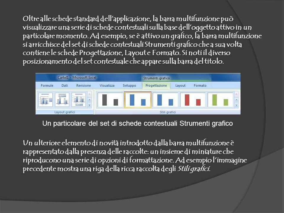 La barra di accesso rapido Nonostante la presenza della barra multifunzione, Excel 2007 non ha completamente abbandonato le barre degli strumenti.