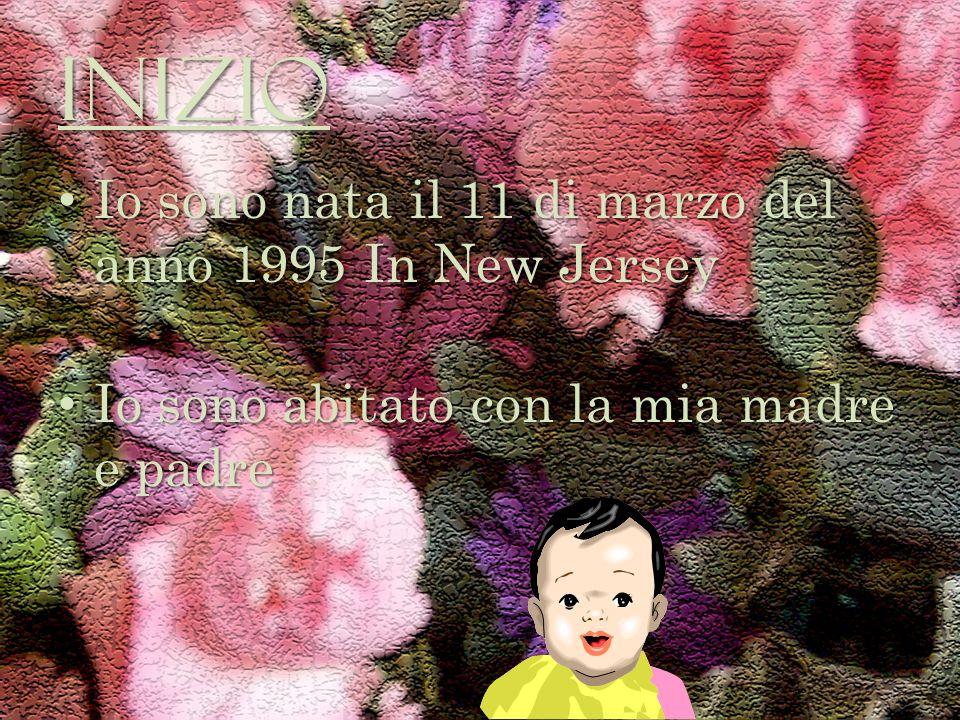 Inizio Io sono nata il 11 di marzo del anno 1995 In New Jersey Io sono nata il 11 di marzo del anno 1995 In New Jersey Io sono abitato con la mia madre e padre Io sono abitato con la mia madre e padre