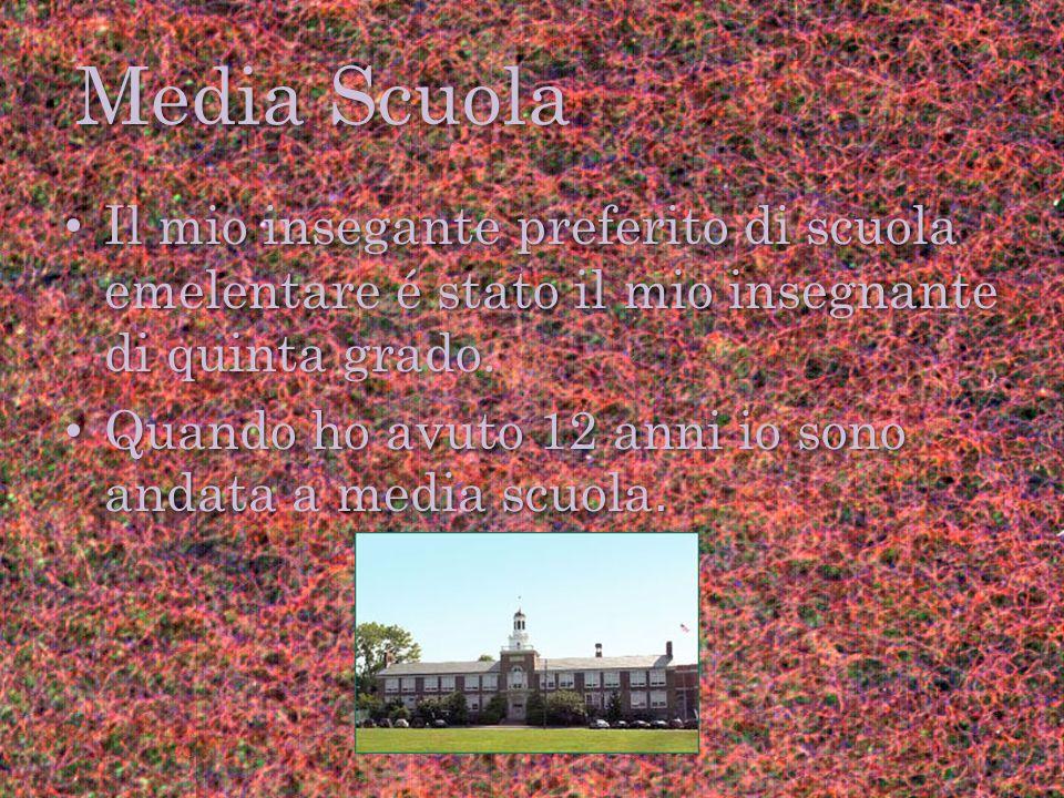 Media Scuola Il mio insegante preferito di scuola emelentare é stato il mio insegnante di quinta grado.
