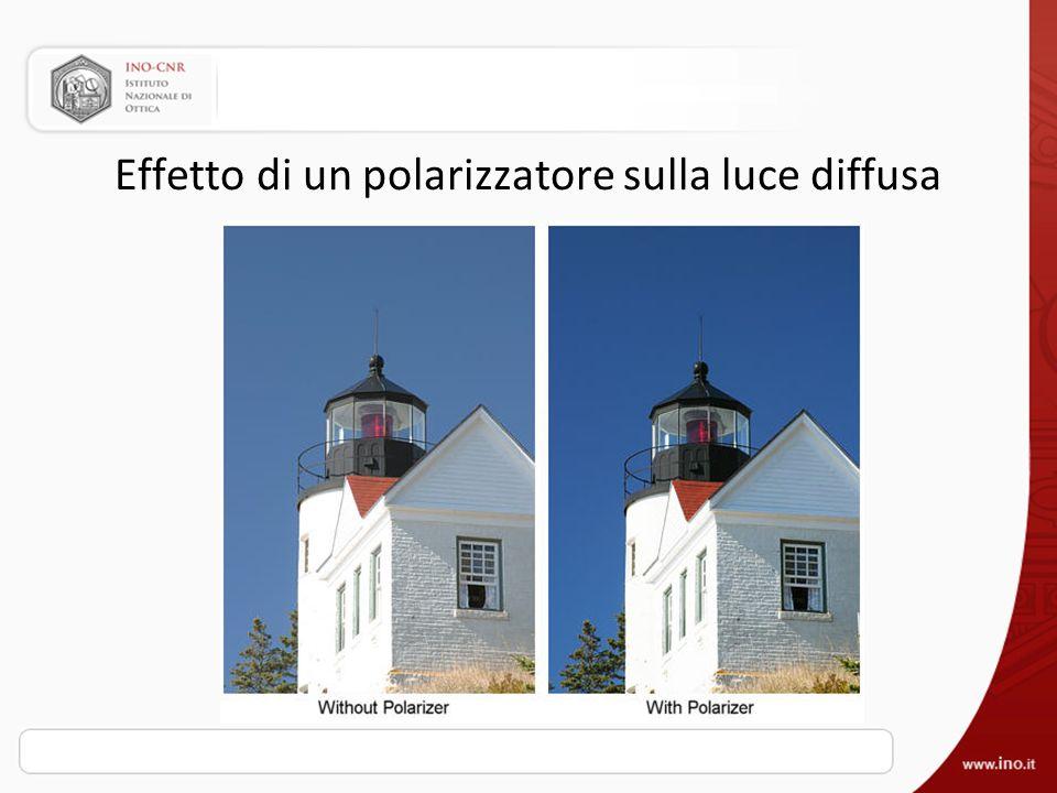 Effetto di un polarizzatore sulla luce diffusa