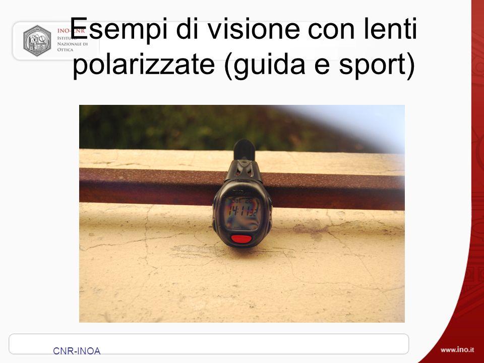 Esempi di visione con lenti polarizzate (guida e sport) CNR-INOA