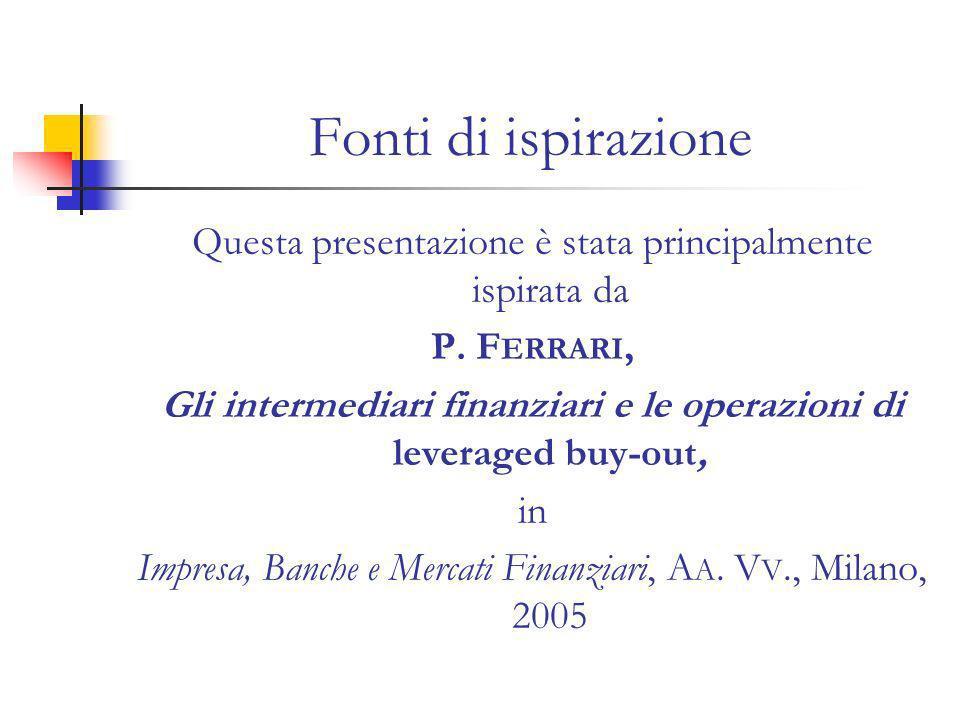 Fonti di ispirazione Questa presentazione è stata principalmente ispirata da P.