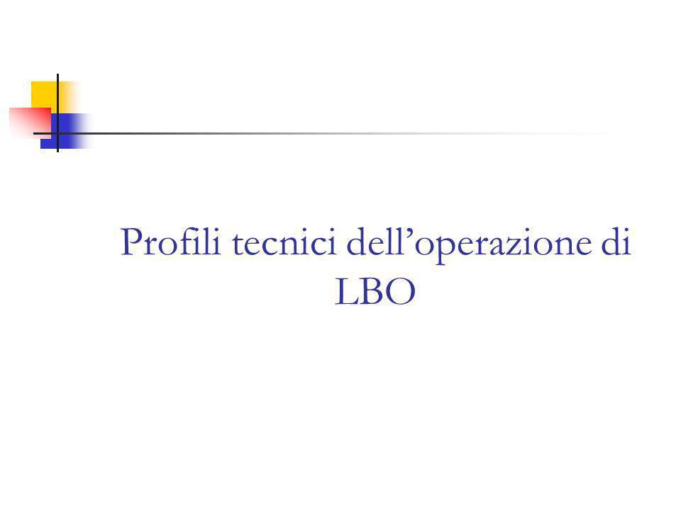 Profili tecnici delloperazione di LBO
