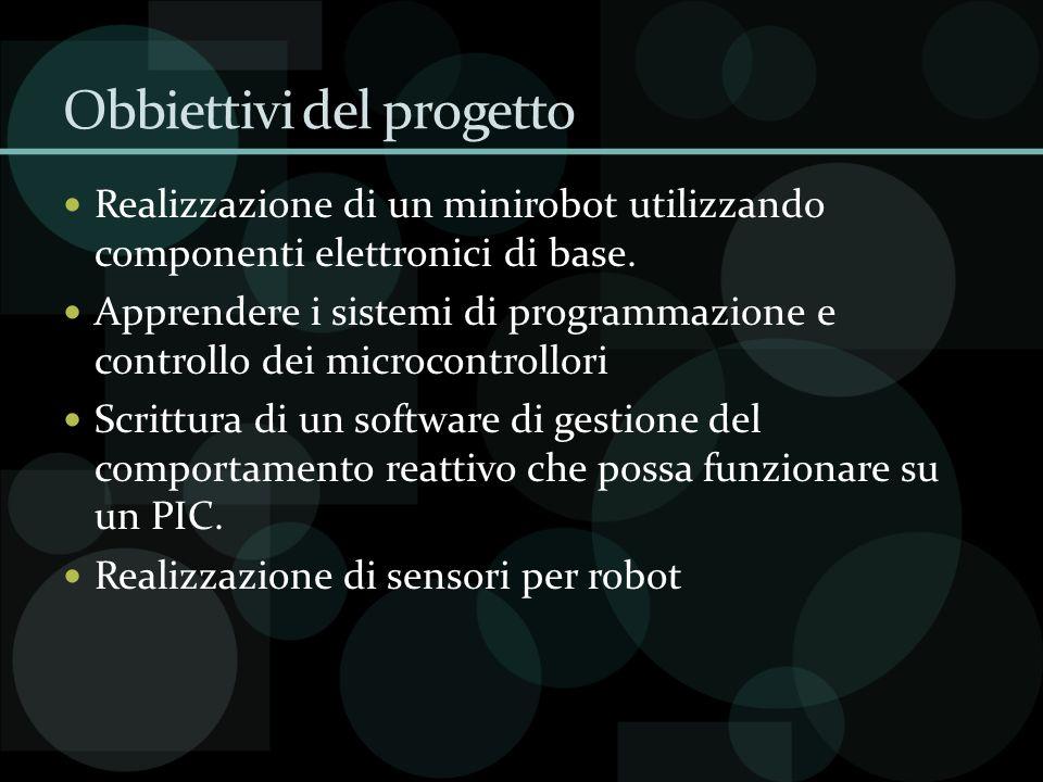 Obbiettivi del progetto Realizzazione di un minirobot utilizzando componenti elettronici di base. Apprendere i sistemi di programmazione e controllo d