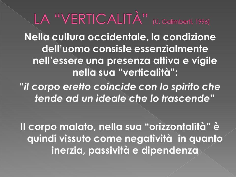 Nella cultura occidentale, la condizione delluomo consiste essenzialmente nellessere una presenza attiva e vigile nella sua verticalità: il corpo eret