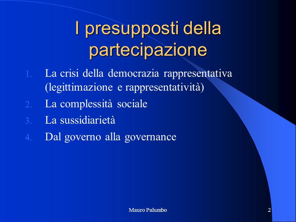 Mauro Palumbo2 I presupposti della partecipazione 1.