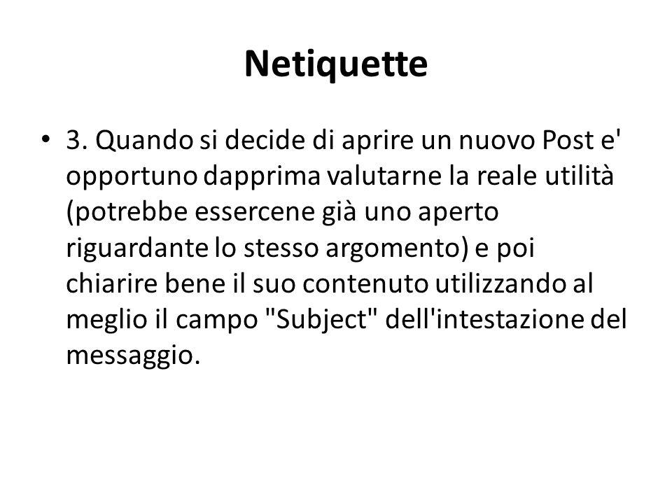 Netiquette 3.