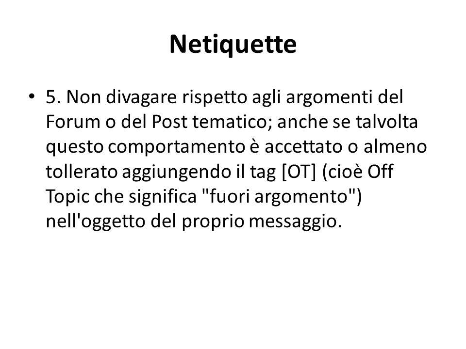 Netiquette 5.