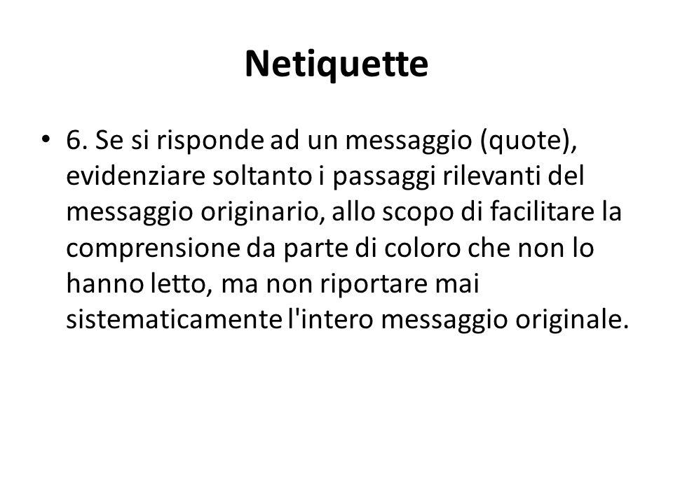 Netiquette 6.