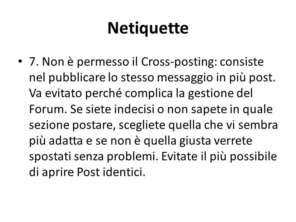 Netiquette 7.