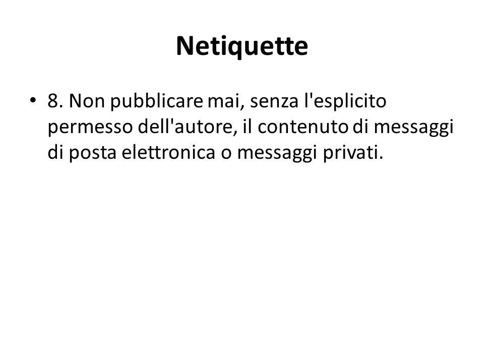 Netiquette 8.