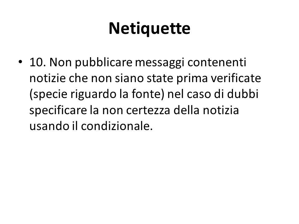 Netiquette 10.