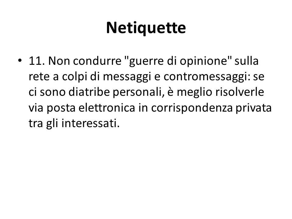 Netiquette 11.
