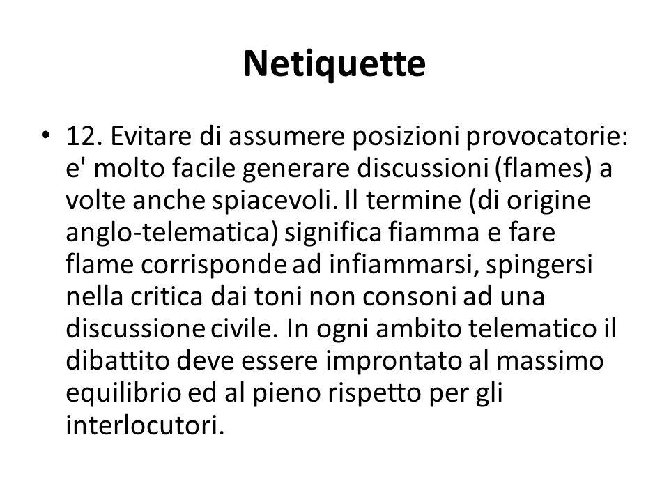 Netiquette 12.