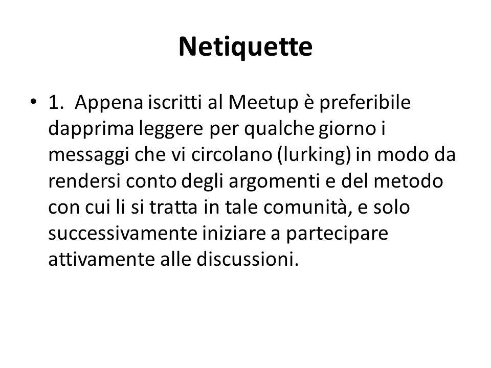 Netiquette 1.