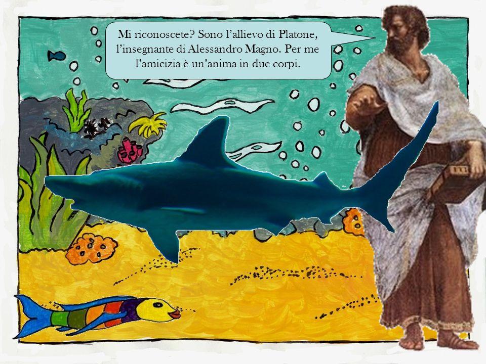 Mi riconoscete? Sono lallievo di Platone, linsegnante di Alessandro Magno. Per me lamicizia è unanima in due corpi.