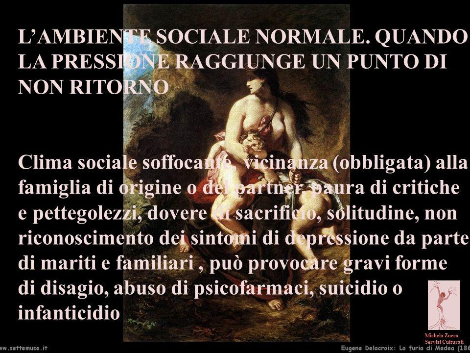 Michela Zucca Servizi Culturali LAMBIENTE SOCIALE NORMALE. QUANDO LA PRESSIONE RAGGIUNGE UN PUNTO DI NON RITORNO Clima sociale soffocante, vicinanza (