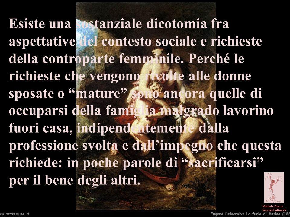 Michela Zucca Servizi Culturali Esiste una sostanziale dicotomia fra aspettative del contesto sociale e richieste della controparte femminile. Perché