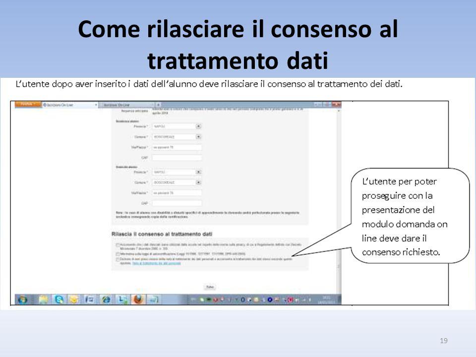 Come rilasciare il consenso al trattamento dati 19