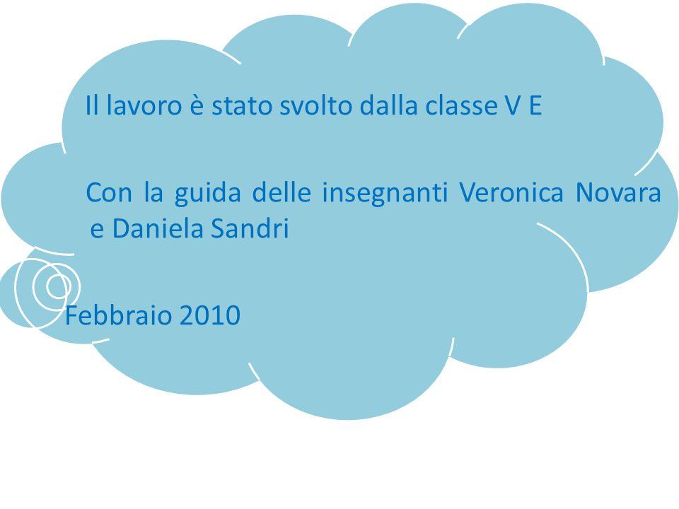 Il lavoro è stato svolto dalla classe V E Con la guida delle insegnanti Veronica Novara e Daniela Sandri Febbraio 2010