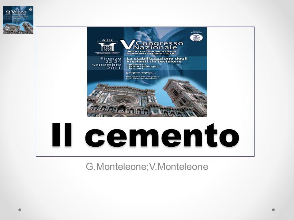 Il cemento G.Monteleone;V.Monteleone