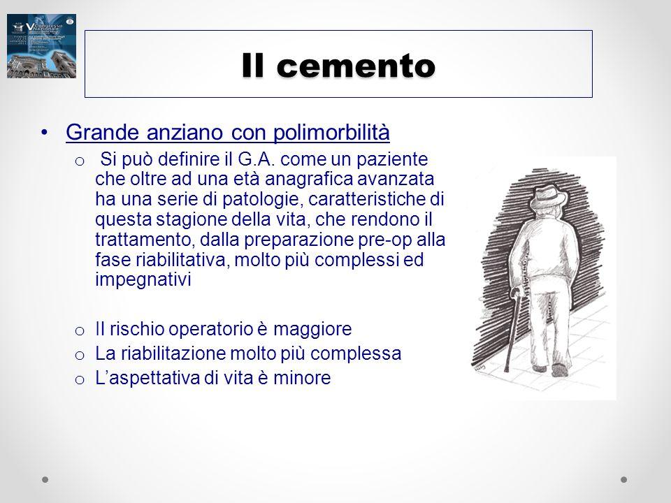 Il cemento Grande anziano con polimorbilità o Si può definire il G.A. come un paziente che oltre ad una età anagrafica avanzata ha una serie di patolo