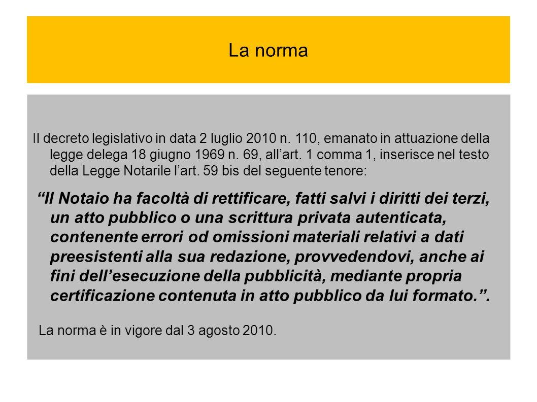 Esempi di errori od omissioni materiali Certificazione energetica CERTIFICAZIONE ENERGETICA Prima dell entrata in vigore del comma 2-ter dell art.