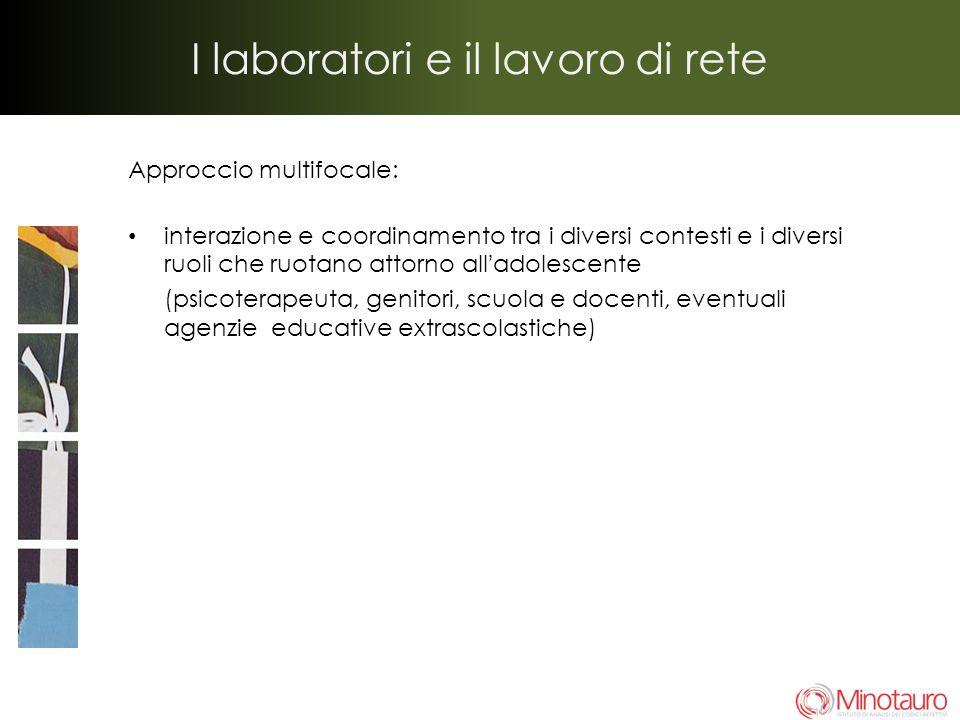 I laboratori e il lavoro di rete Approccio multifocale: interazione e coordinamento tra i diversi contesti e i diversi ruoli che ruotano attorno allad