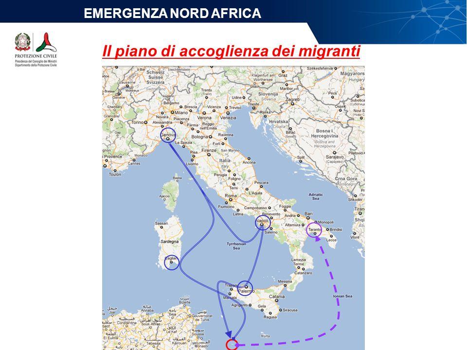 Il piano di accoglienza dei migranti EMERGENZA NORD AFRICA