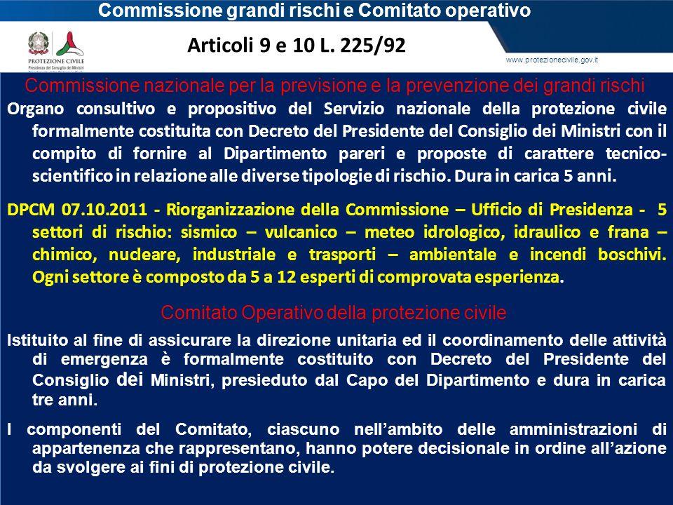 www.protezionecivile.gov.it Organo consultivo e propositivo del Servizio nazionale della protezione civile formalmente costituita con Decreto del Pres