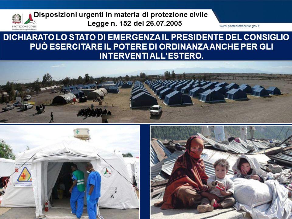 www.protezionecivile.gov.it DICHIARATO LO STATO DI EMERGENZA IL PRESIDENTE DEL CONSIGLIO PUÒ ESERCITARE IL POTERE DI ORDINANZA ANCHE PER GLI INTERVENT
