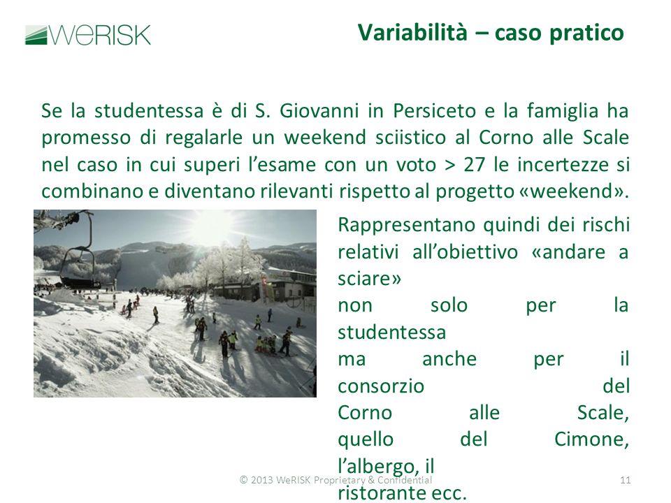 © 2013 WeRISK Proprietary & Confidential11 Se la studentessa è di S.