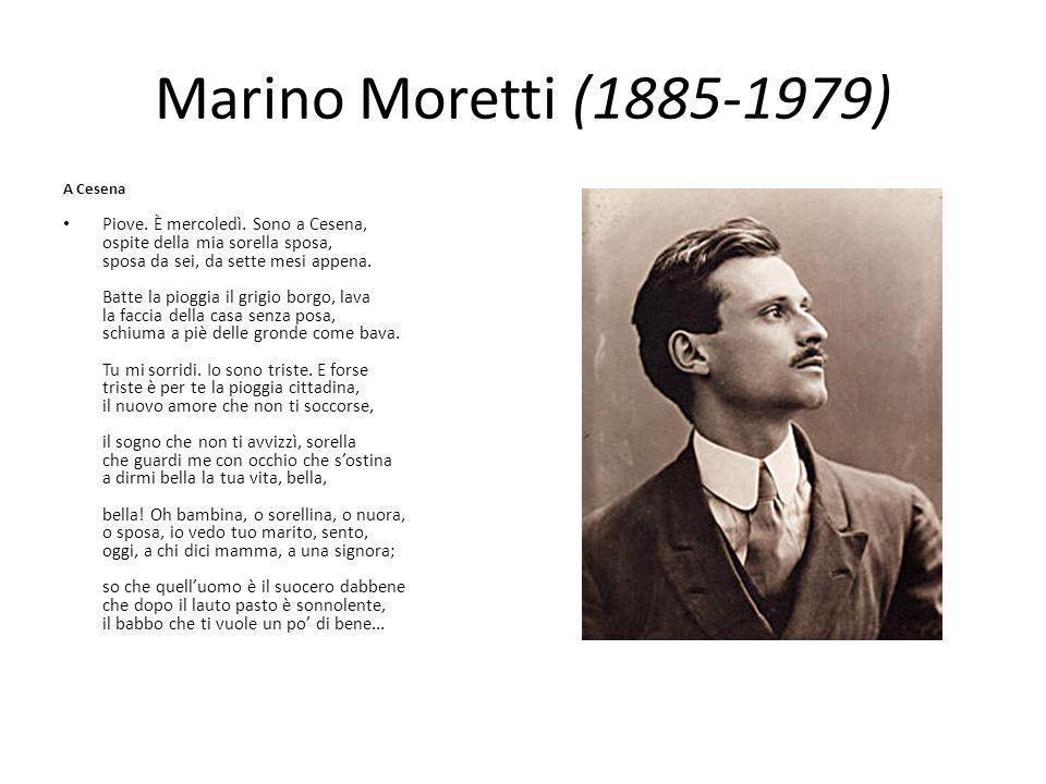 Marino Moretti (1885-1979) A Cesena Piove. È mercoledì. Sono a Cesena, ospite della mia sorella sposa, sposa da sei, da sette mesi appena. Batte la pi