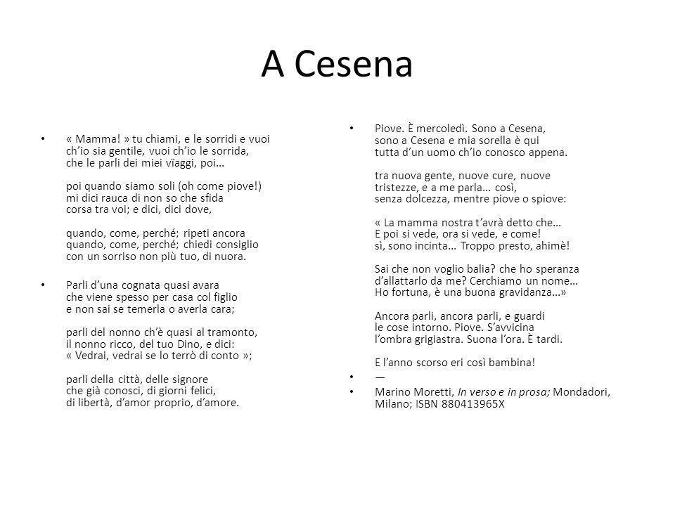 Sergio Corazzini (1886 – 1907) Desolazione del povero poeta sentimentale I Perché tu mi dici: poeta.