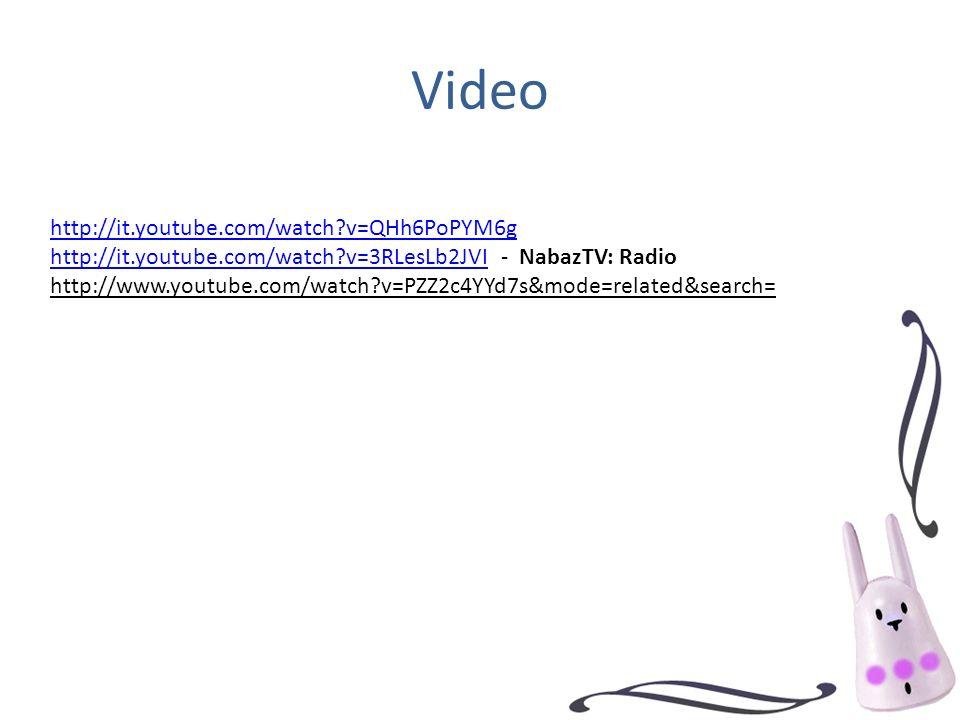 Video http://it.youtube.com/watch?v=QHh6PoPYM6g http://it.youtube.com/watch?v=3RLesLb2JVIhttp://it.youtube.com/watch?v=3RLesLb2JVI - NabazTV: Radio ht