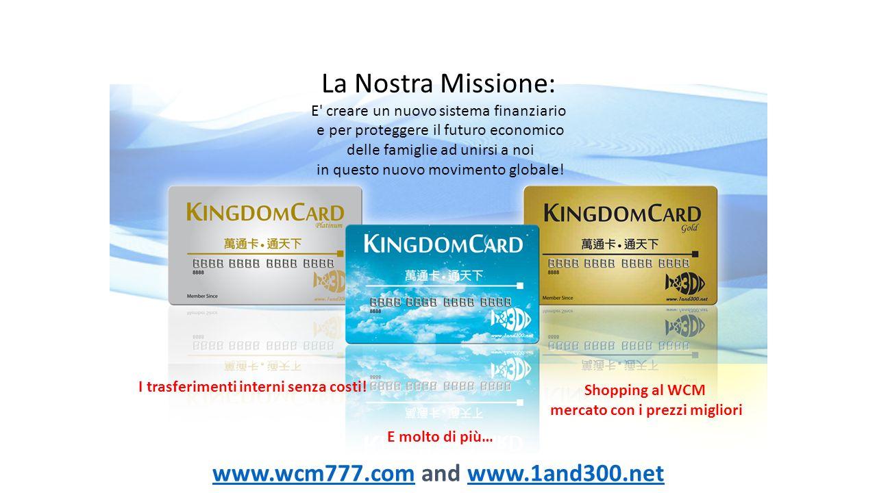 La Nostra Missione: E' creare un nuovo sistema finanziario e per proteggere il futuro economico delle famiglie ad unirsi a noi in questo nuovo movimen
