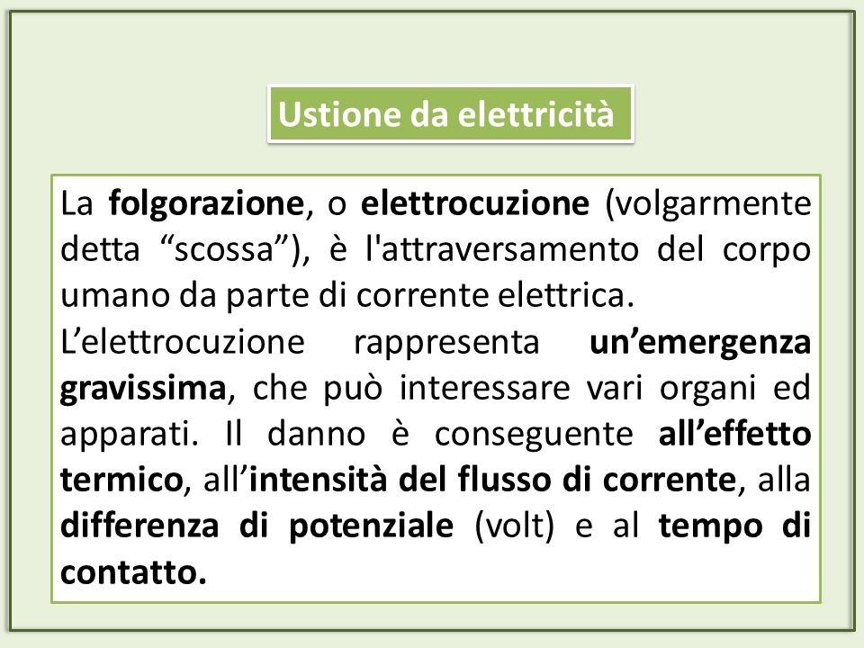 La folgorazione, o elettrocuzione (volgarmente detta scossa), è l'attraversamento del corpo umano da parte di corrente elettrica. Lelettrocuzione rapp