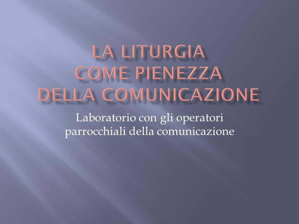 Laboratorio con gli operatori parrocchiali della comunicazione