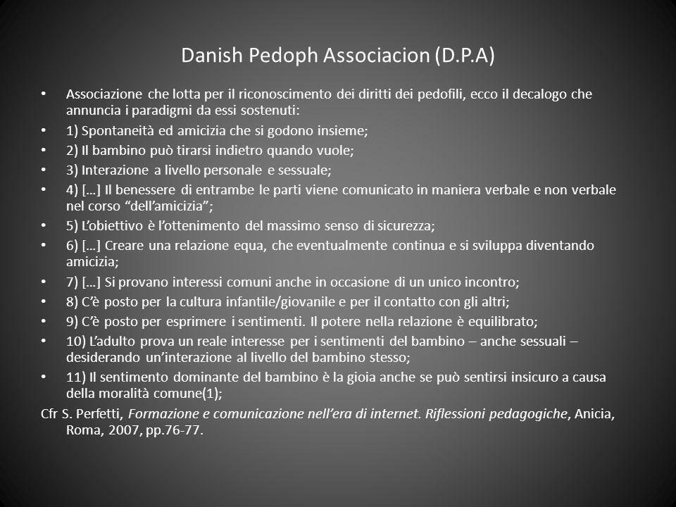 Danish Pedoph Associacion (D.P.A) Associazione che lotta per il riconoscimento dei diritti dei pedofili, ecco il decalogo che annuncia i paradigmi da