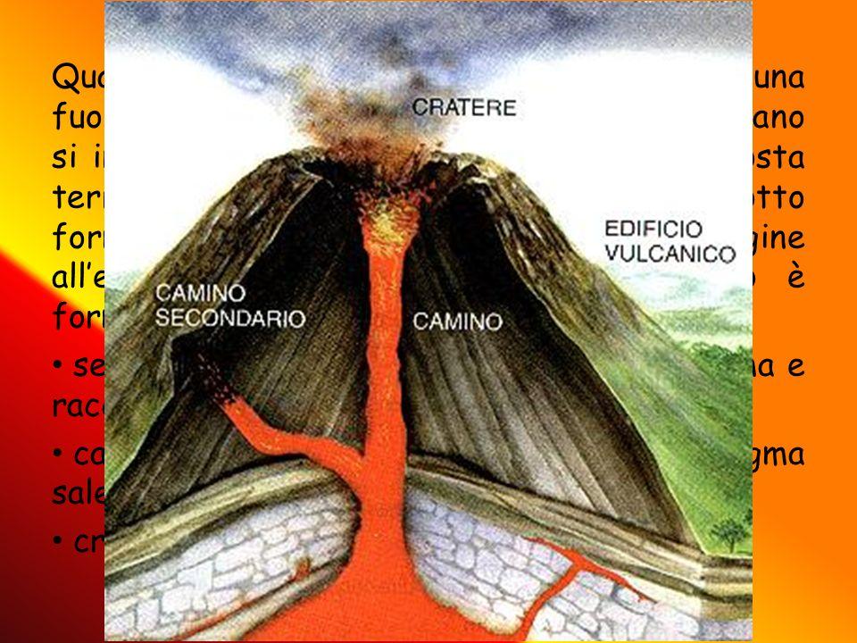 Quando due zolle si scontrano e c è una fuoriuscita ti lava si parla di vulcano: per vulcano si intende una qualsiasi spaccatura nella crosta terrestr