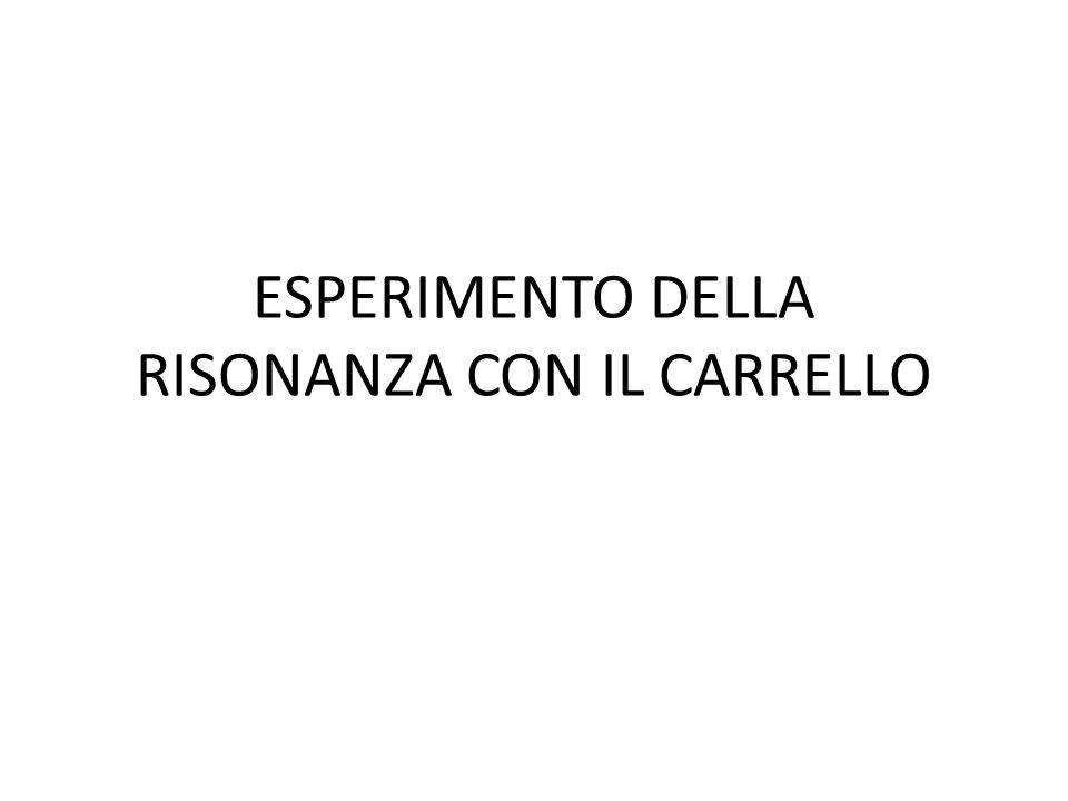 ESPERIMENTO DELLA RISONANZA CON IL CARRELLO