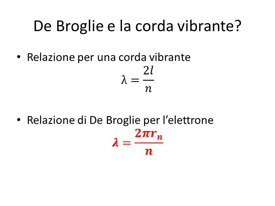 De Broglie e la corda vibrante?