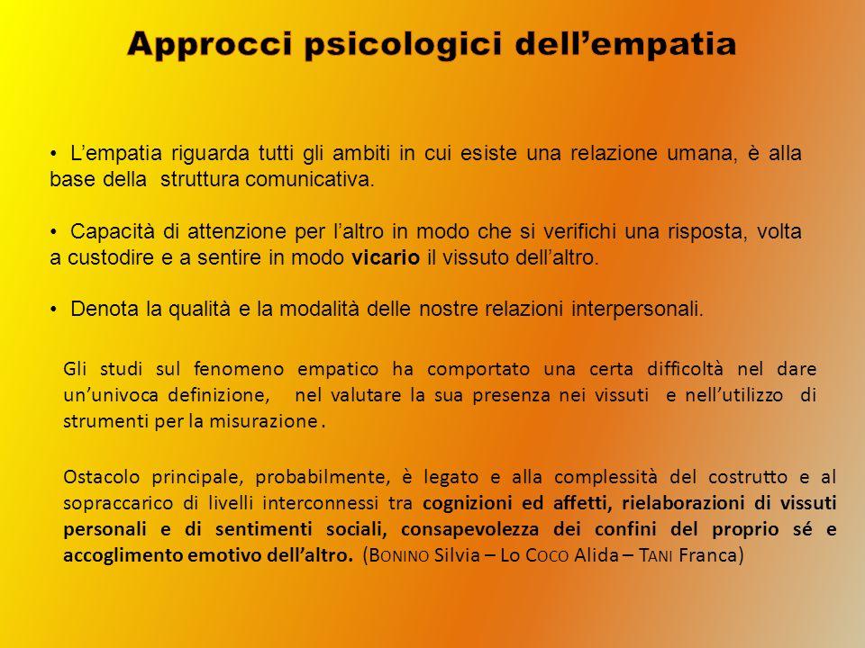 Lempatia riguarda tutti gli ambiti in cui esiste una relazione umana, è alla base della struttura comunicativa. Capacità di attenzione per laltro in m