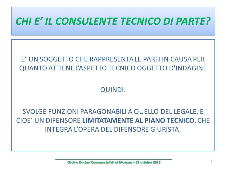 ESEMPI CONSULENZA TECNICA CONTABILE (art.